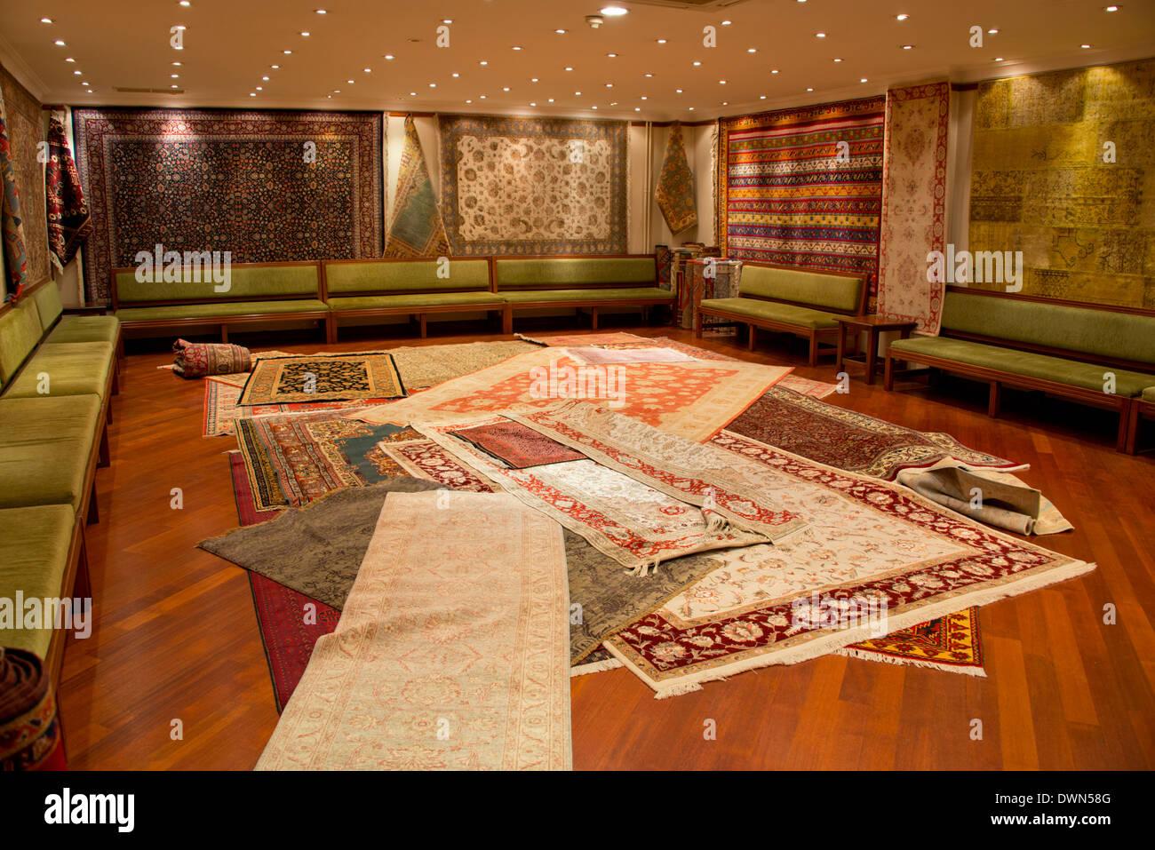 Typical Turkish Carpet Workshop And Showroom
