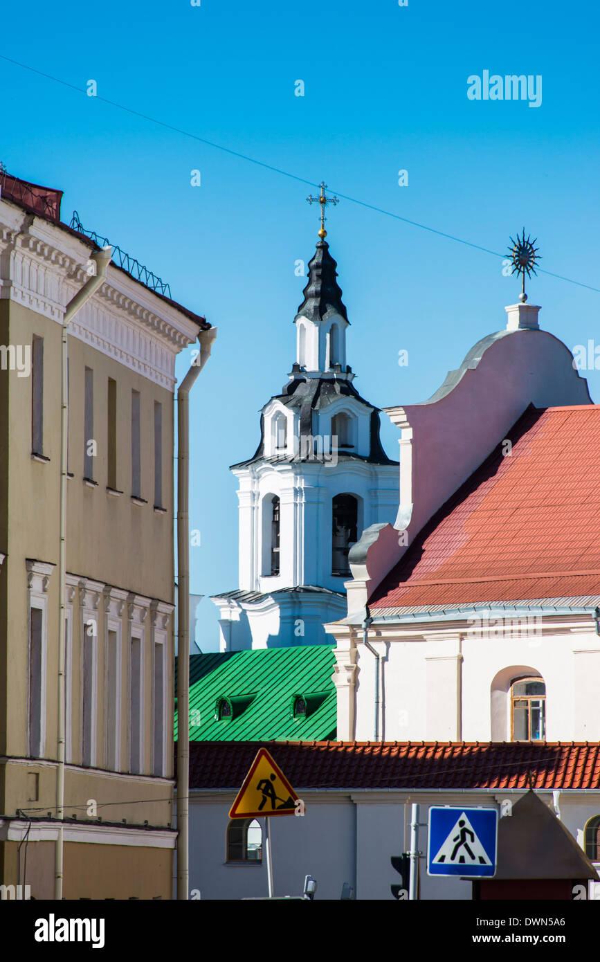 Traetskae Pradmestse, the remaining pre-war buildings of Minsk, Belarus, Europe - Stock Image