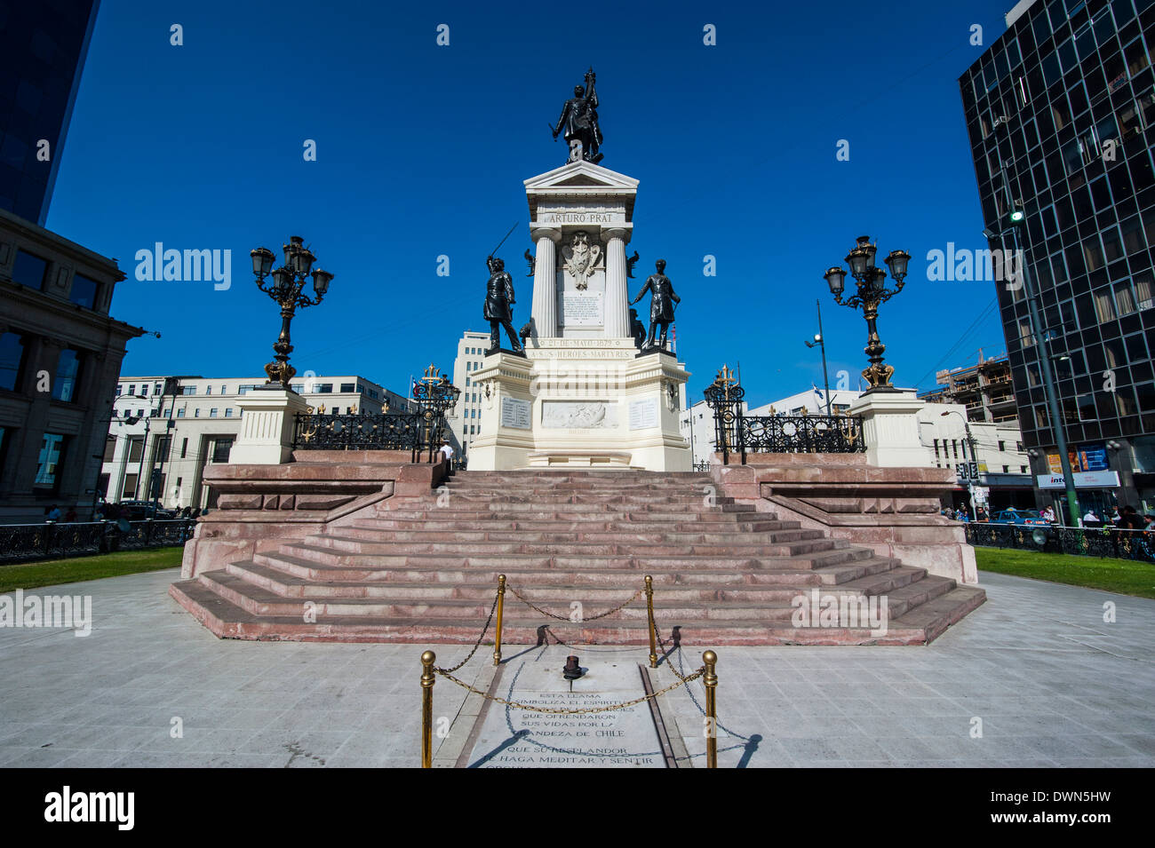 Monument to the Heroes of Iquique, Valparaiso, Chile, South America - Stock Image