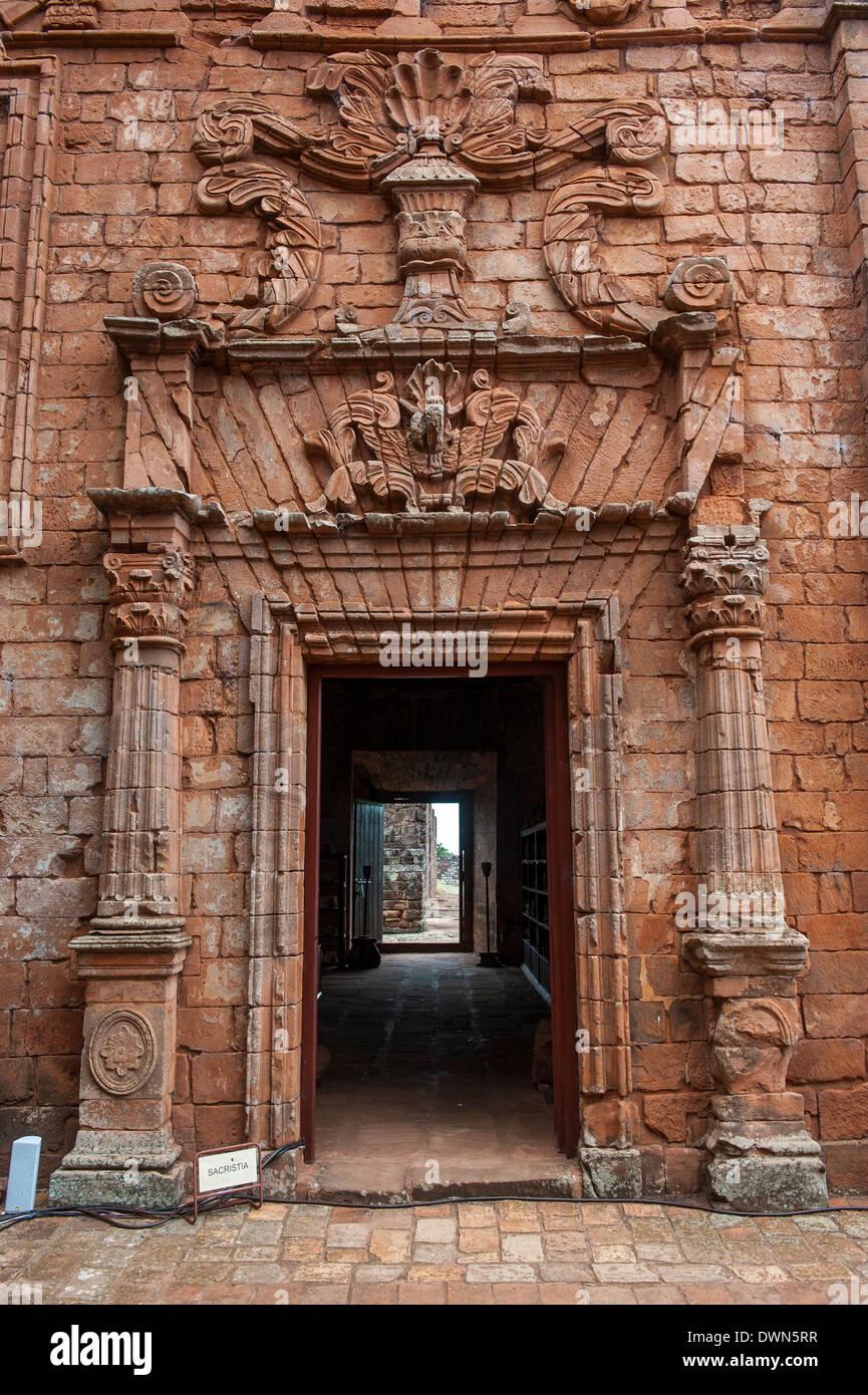 Jesuit Mission of La Santisima Trinidad, UNESCO World Heritage Site, Paraguay, South America - Stock Image