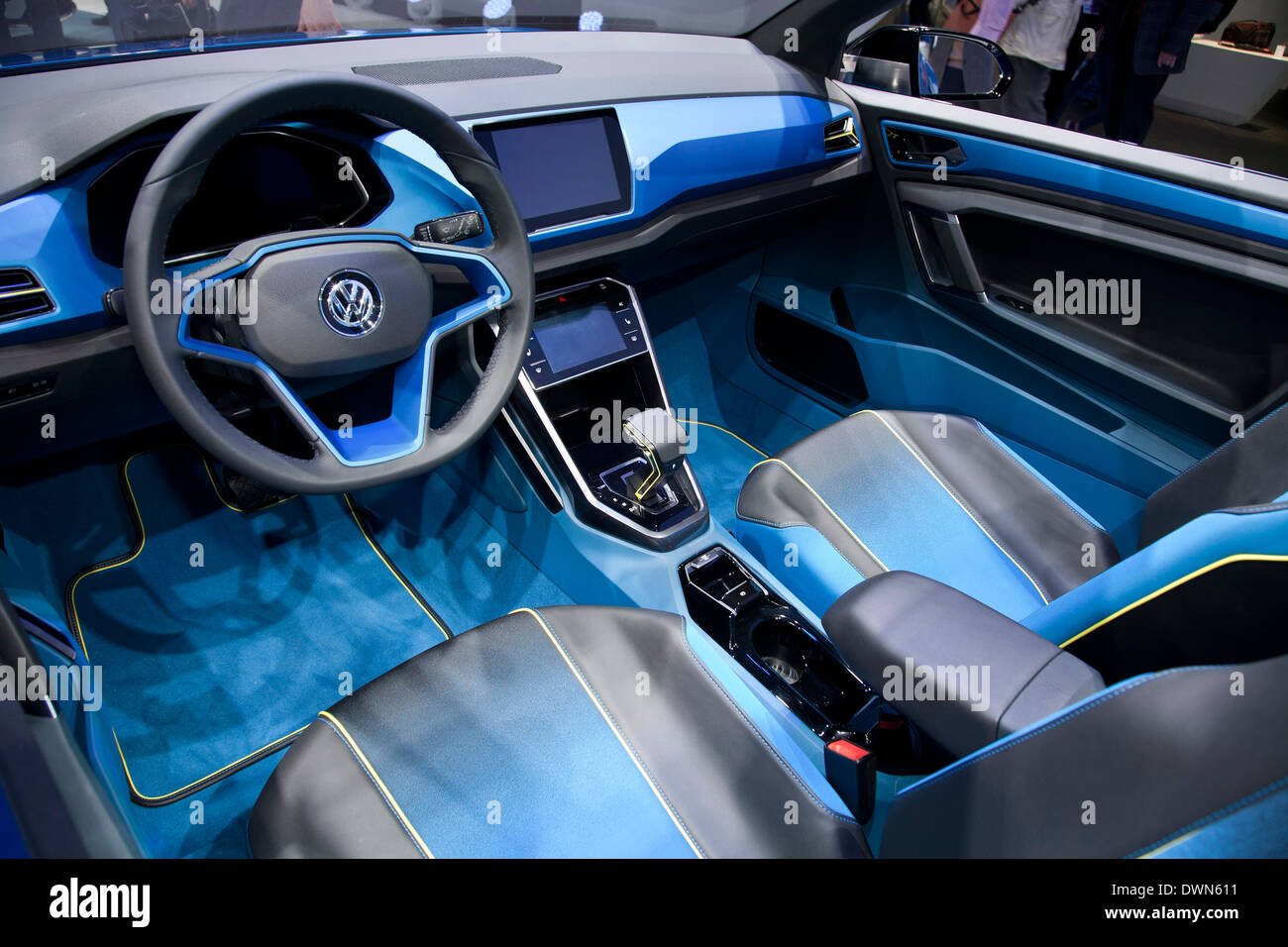 VW T-ROC SUV concept at the 84th Geneva International Motor Show 2014. - Stock Image