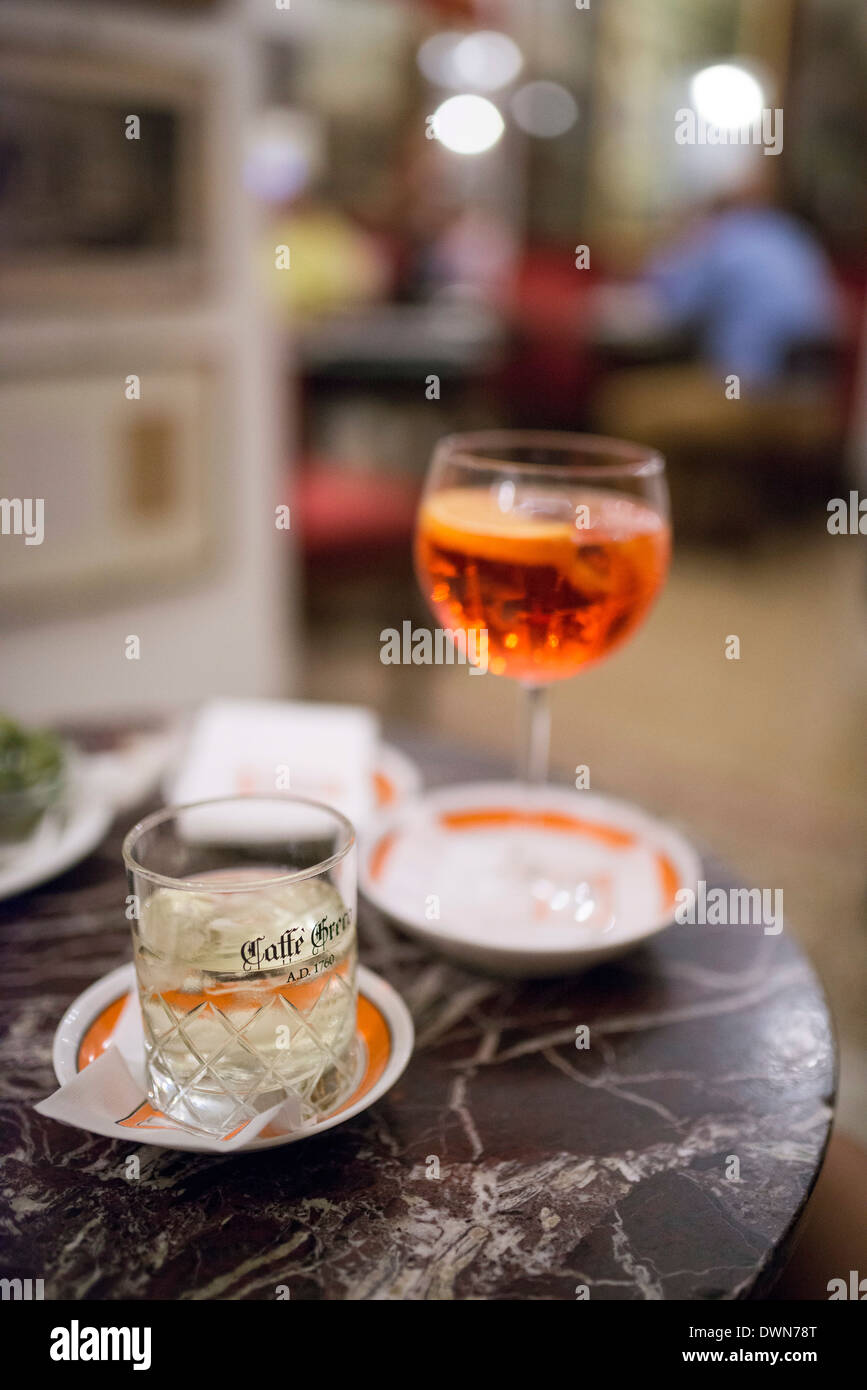 Cocktails at the Cafe Greco, Rome, Lazio, Italy, Europe - Stock Image