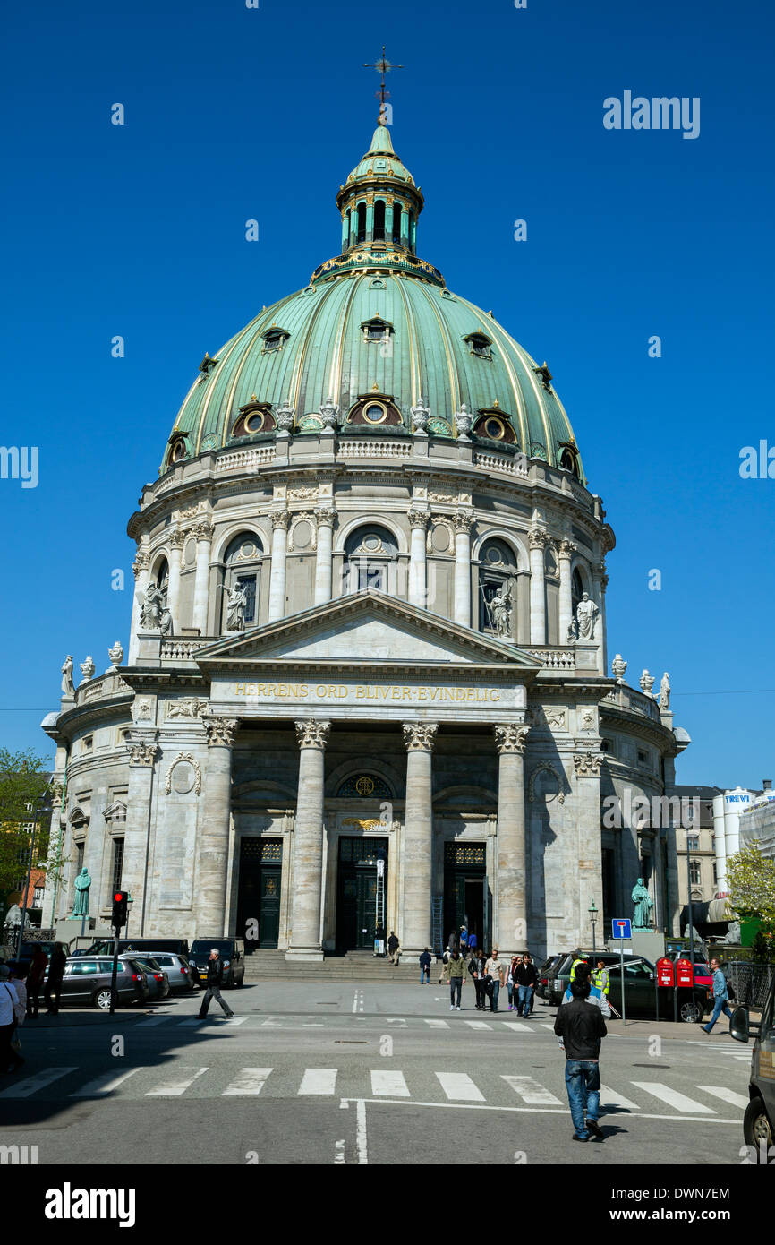 Marmorkirken church, also known as Frederik's Church and the Marble Church in Copenhagen - Stock Image