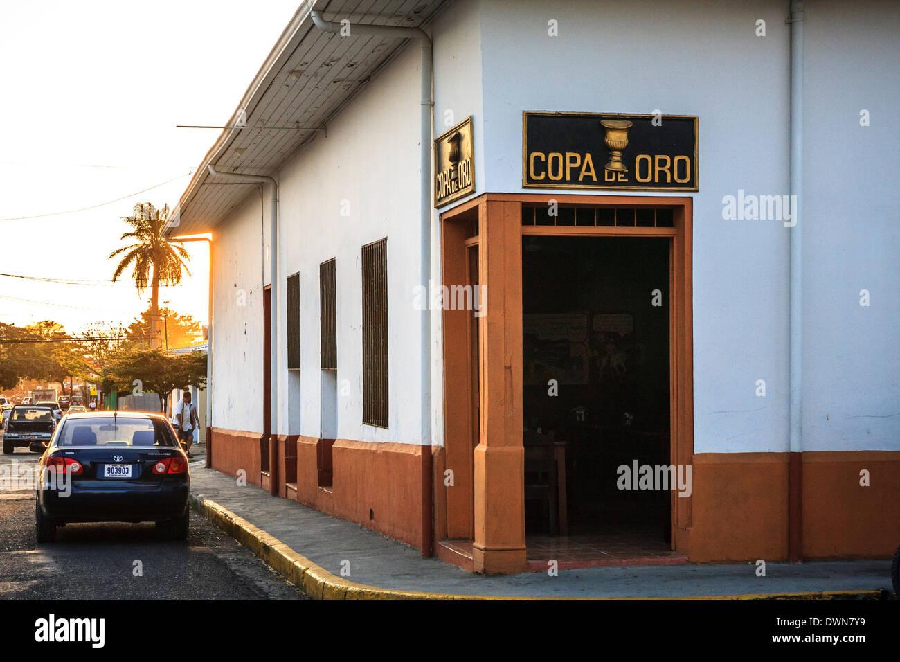 restaurant copa de oro in liberia city, costa rica stock photo