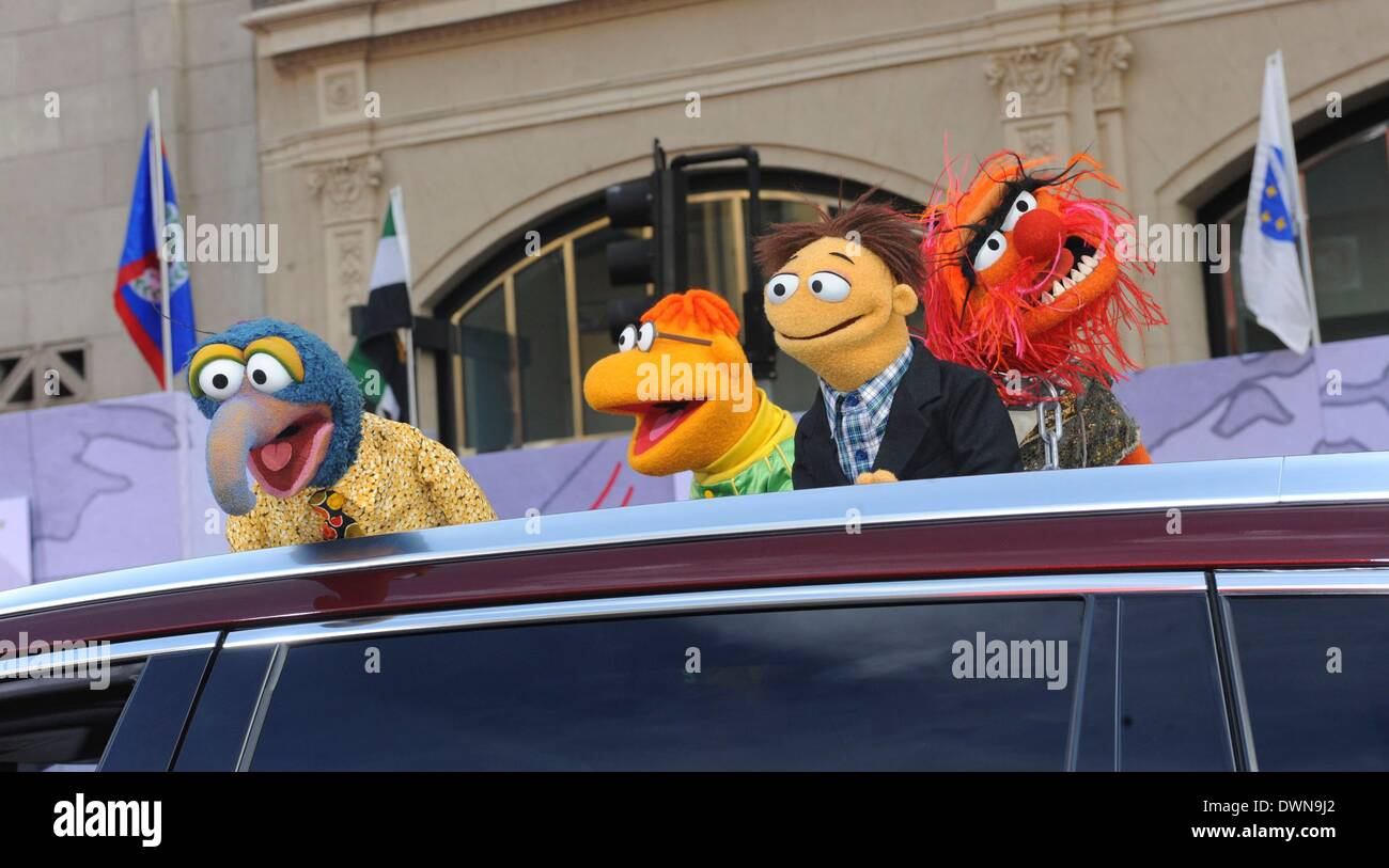 Los Angeles, California, USA. 11th Mar, 2014. Muppets at arrivals for MUPPETS MOST WANTED Premiere, El Capitan Theatre, Stock Photo