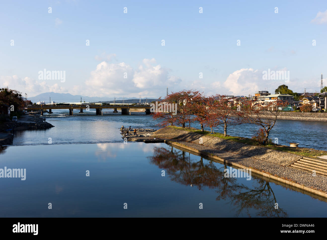 Kyoto, Osaka, Japan River - Stock Image