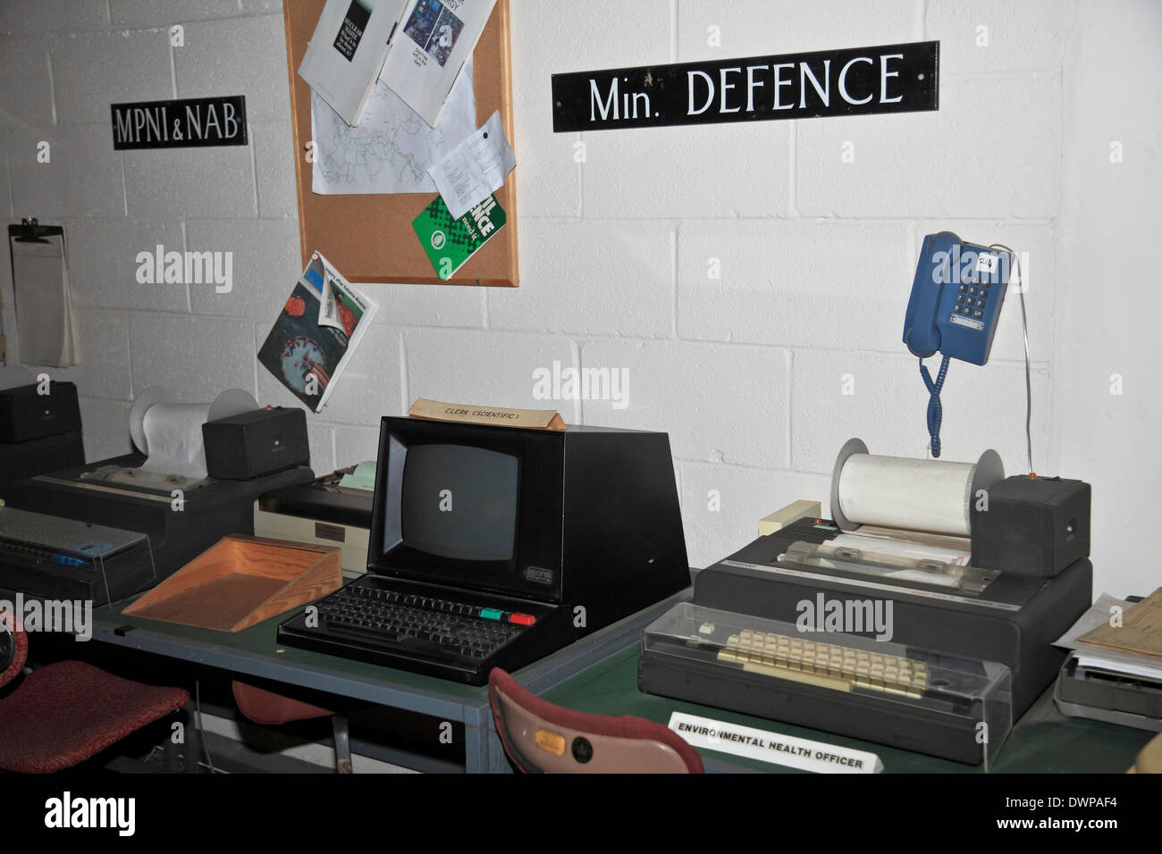 9374. Kelvedon Hatch, Secret Nuclear Bunker, Brentwood, Essex, England - Stock Image