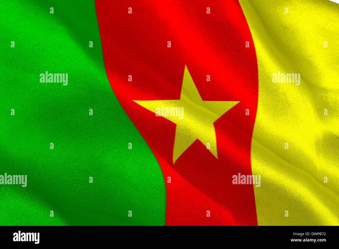 Cameroon flag - Stock Image