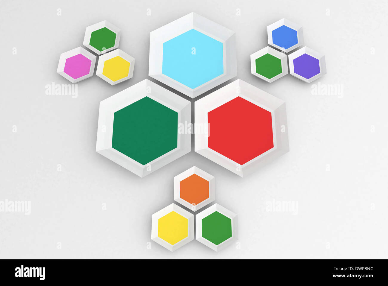 Hexagon shapes - Stock Image