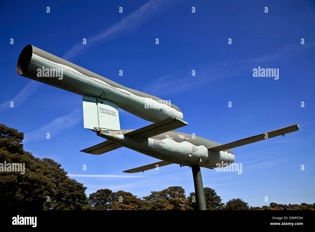 9385. WW2 German V 1 Rocket Bomb, Manston Museum, Manston Kent, England - Stock Image