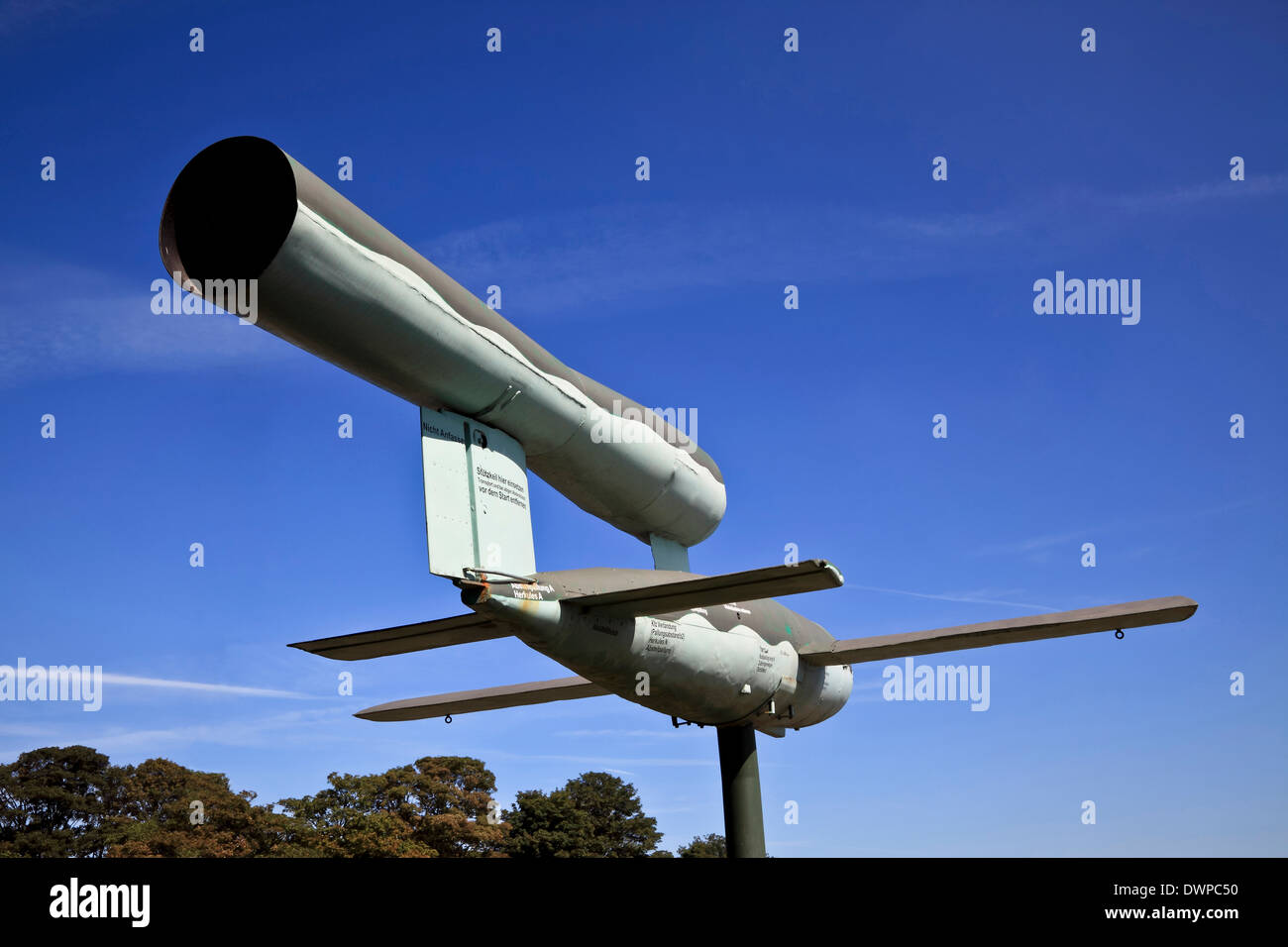 9386. WW2 German V 1 Rocket Bomb, Manston Museum, Manston Kent, England - Stock Image