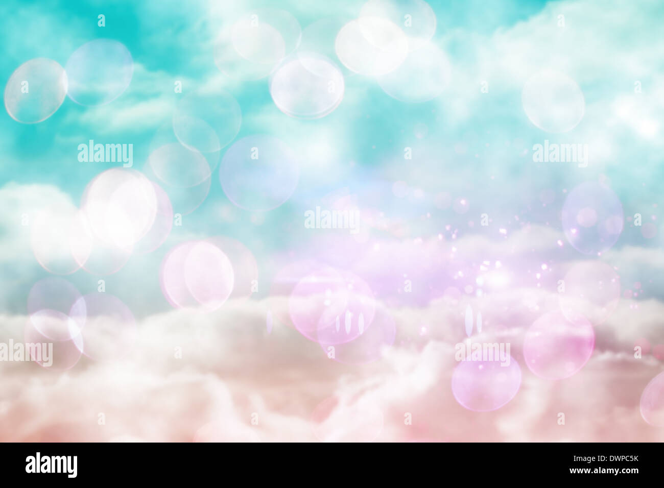 Pink and blue girly design - Stock Image