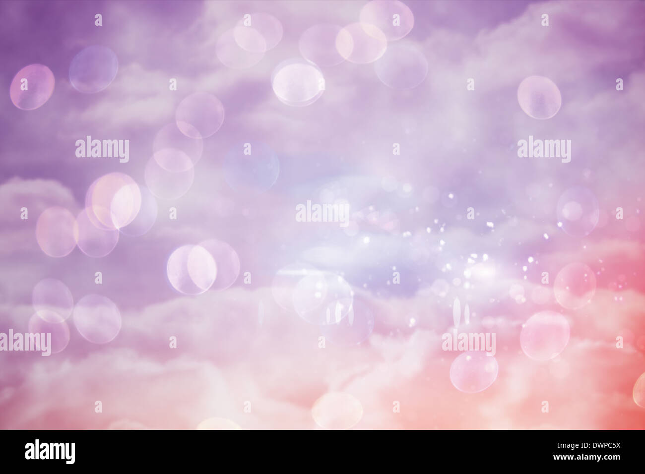 Pink and purple girly design - Stock Image