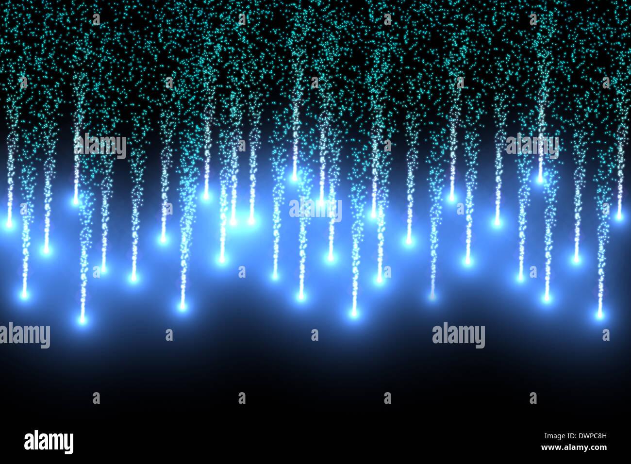 Digitally generated firework design - Stock Image