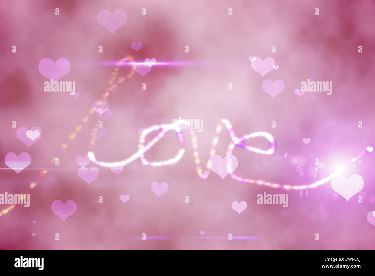 Digitally generated love background - Stock Image