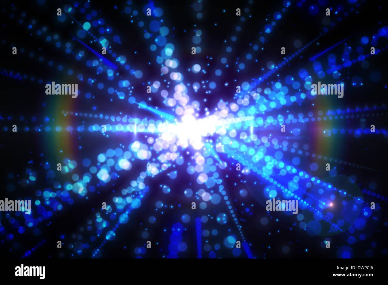 Digitally generated laser background - Stock Image