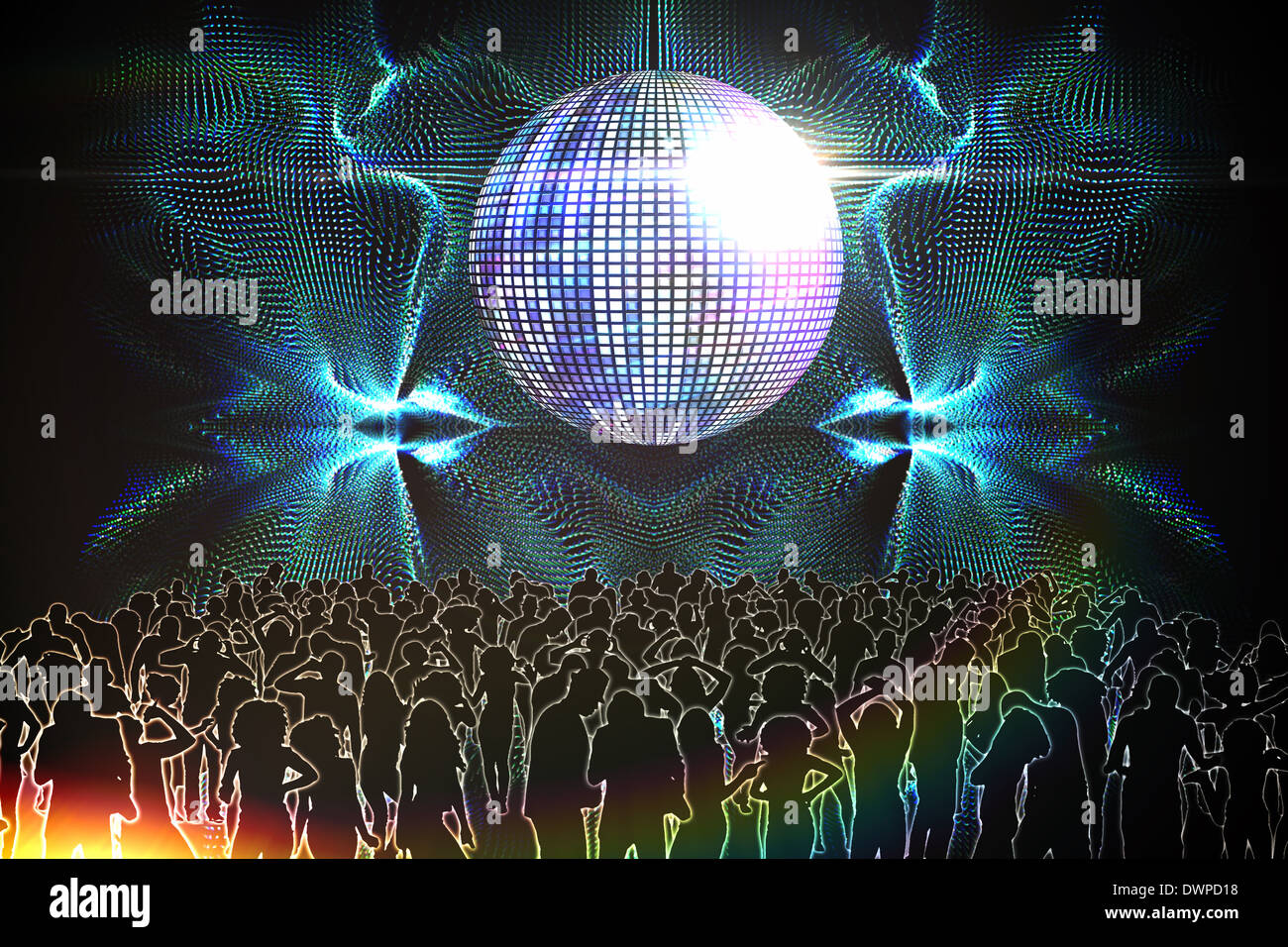 Digitally generated nightclub - Stock Image