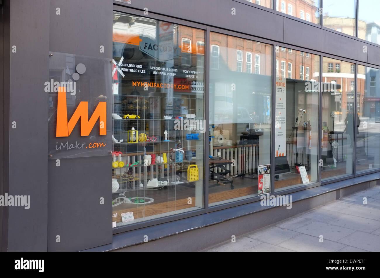 The iMakr 3D printing store, 79 Clerkenwell Road London EC1R 5AR UK - Stock Image
