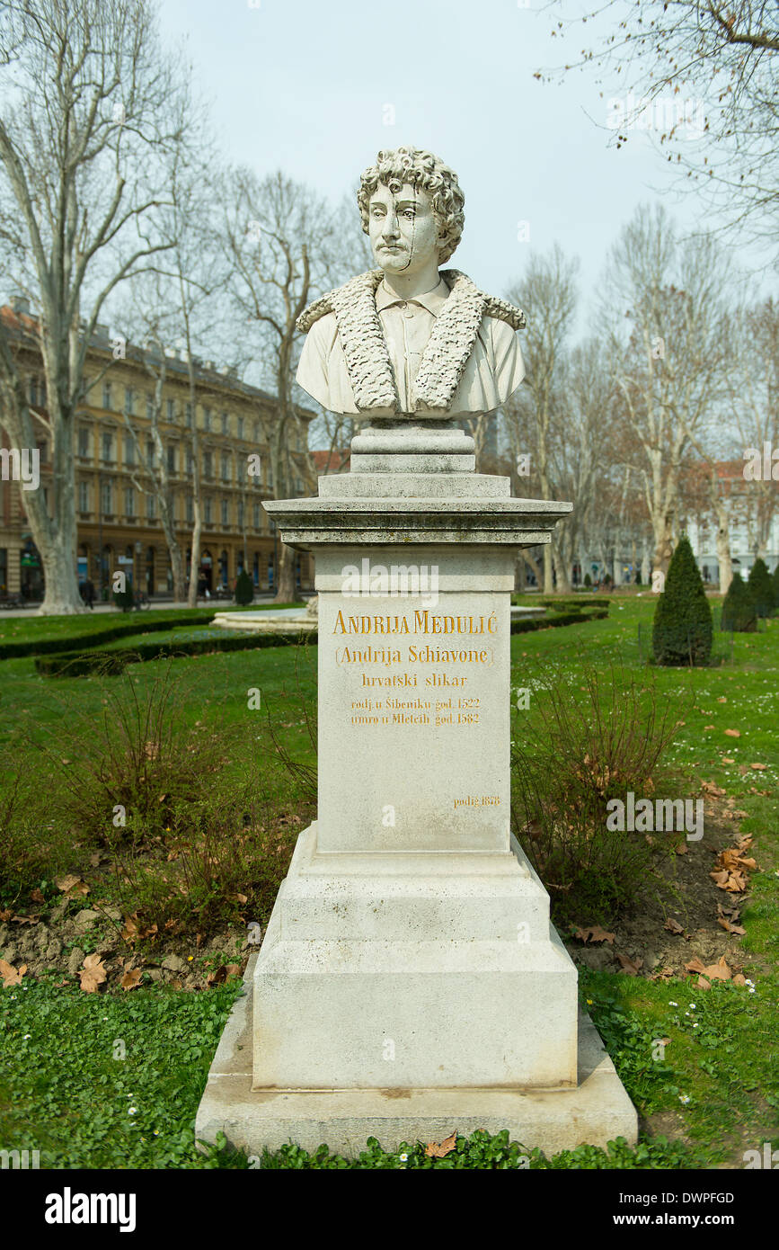 The Bust Of Andrija Medulic Painter Stock Photo 67492669 Alamy