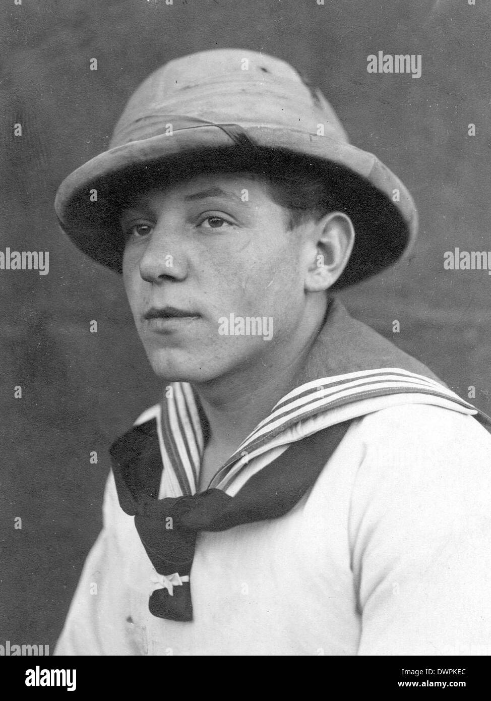 WW2 German sailor in tropical clothing - Stock Image