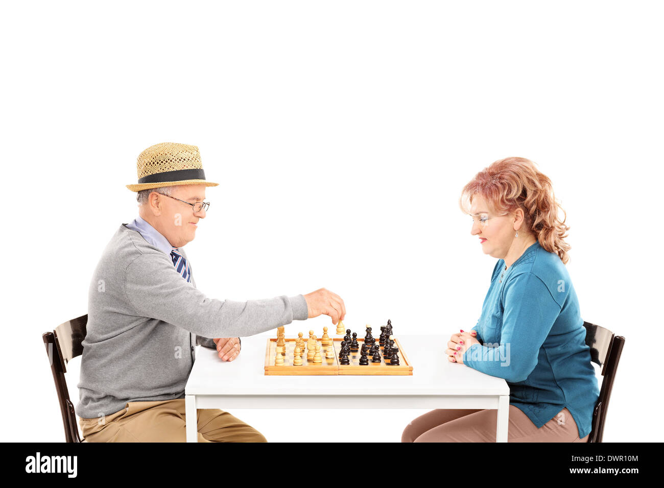 Mature couple play
