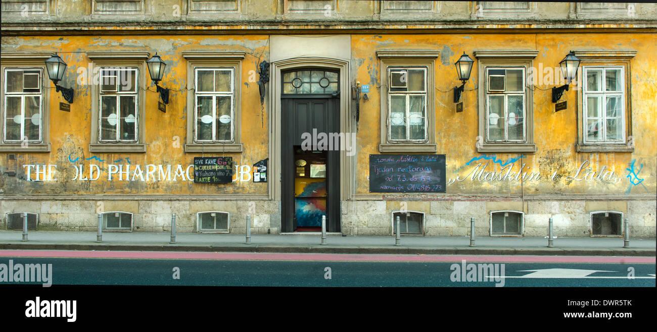 the old pharmacy pub in Zagreb - Stock Image