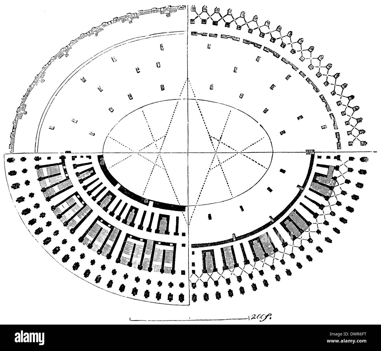 Colosseum Plan Stock Photo Alamy