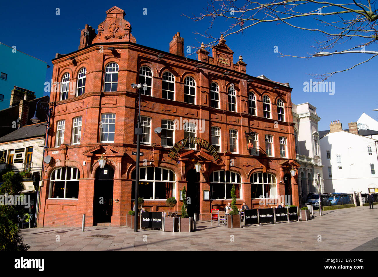 Duke of Wellington Public House, The Hayes, Cardiff, South Wales. - Stock Image