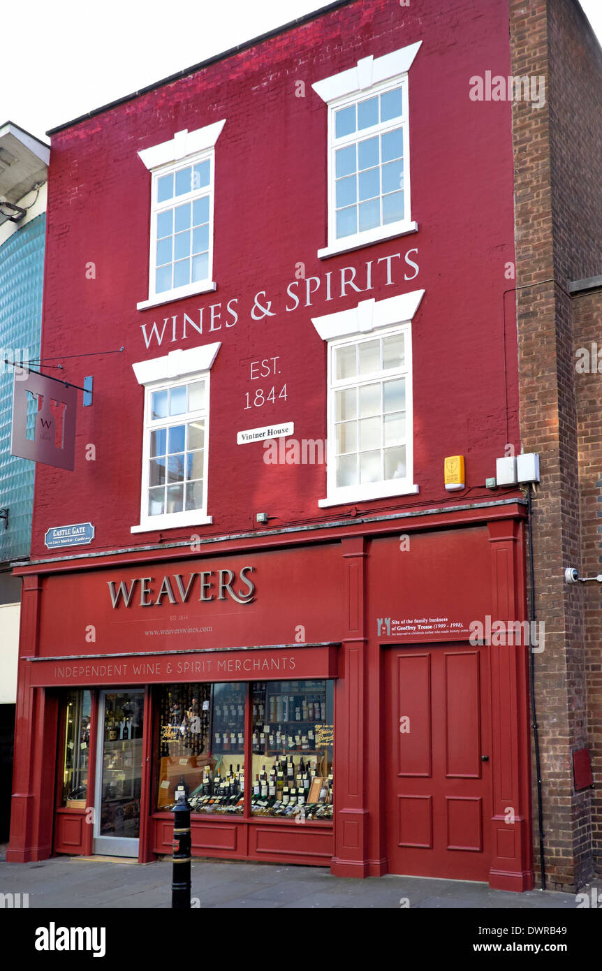 Weavers independent wines & spirits merchants Nottingham England uk - Stock Image
