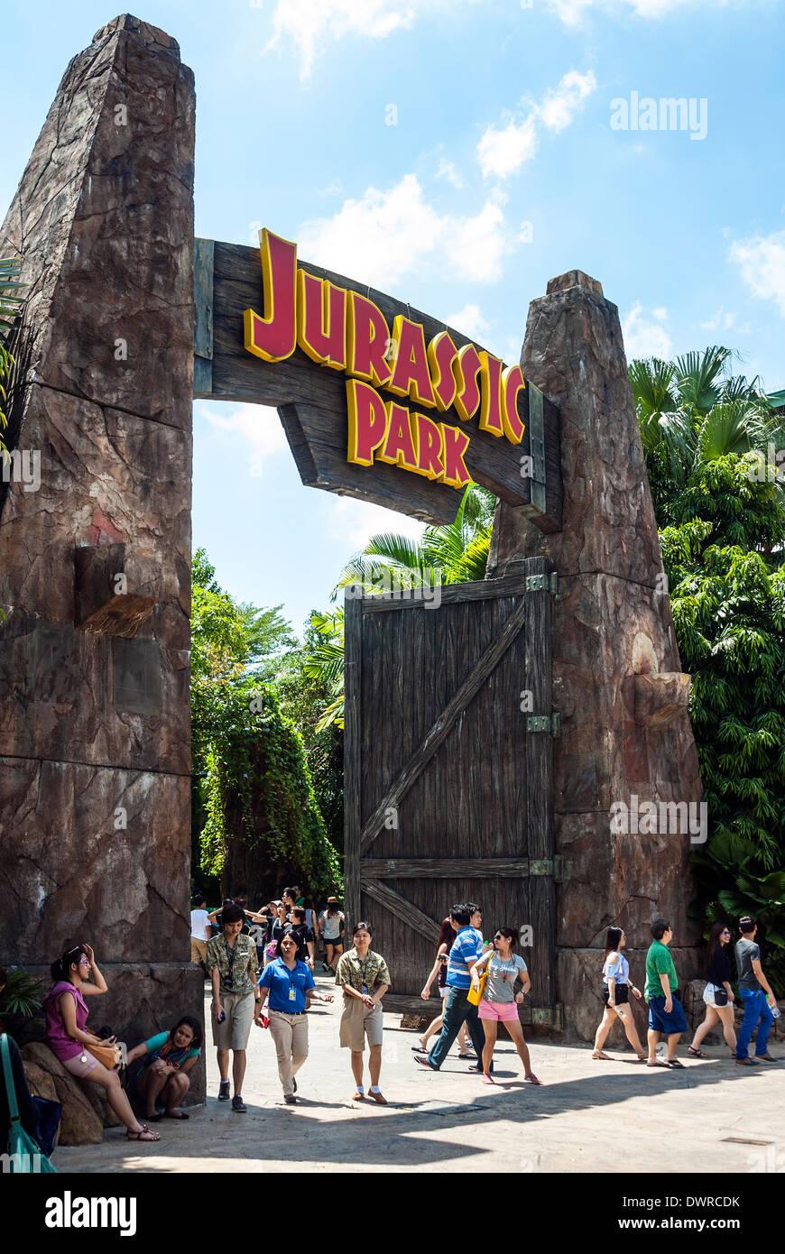 Jurassic Park, Universal Studios, Singapore Stock Photo ...