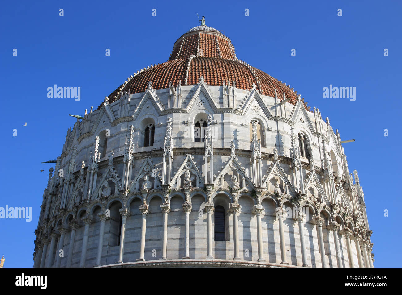 the Baptistery in Miracles square, Pisa, Italy Stock Photo