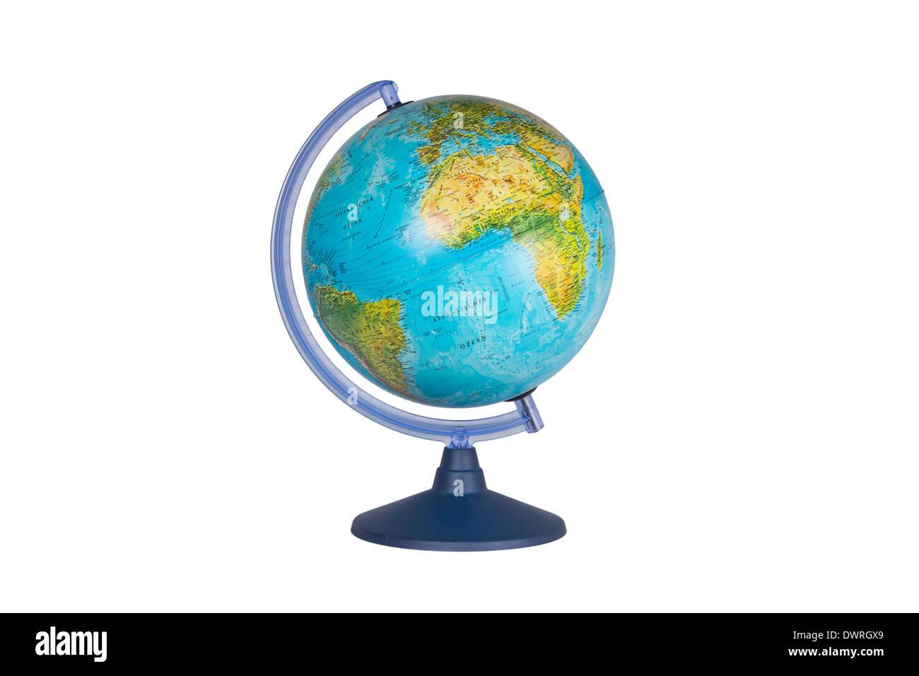 Globe on white background with path - Stock Image