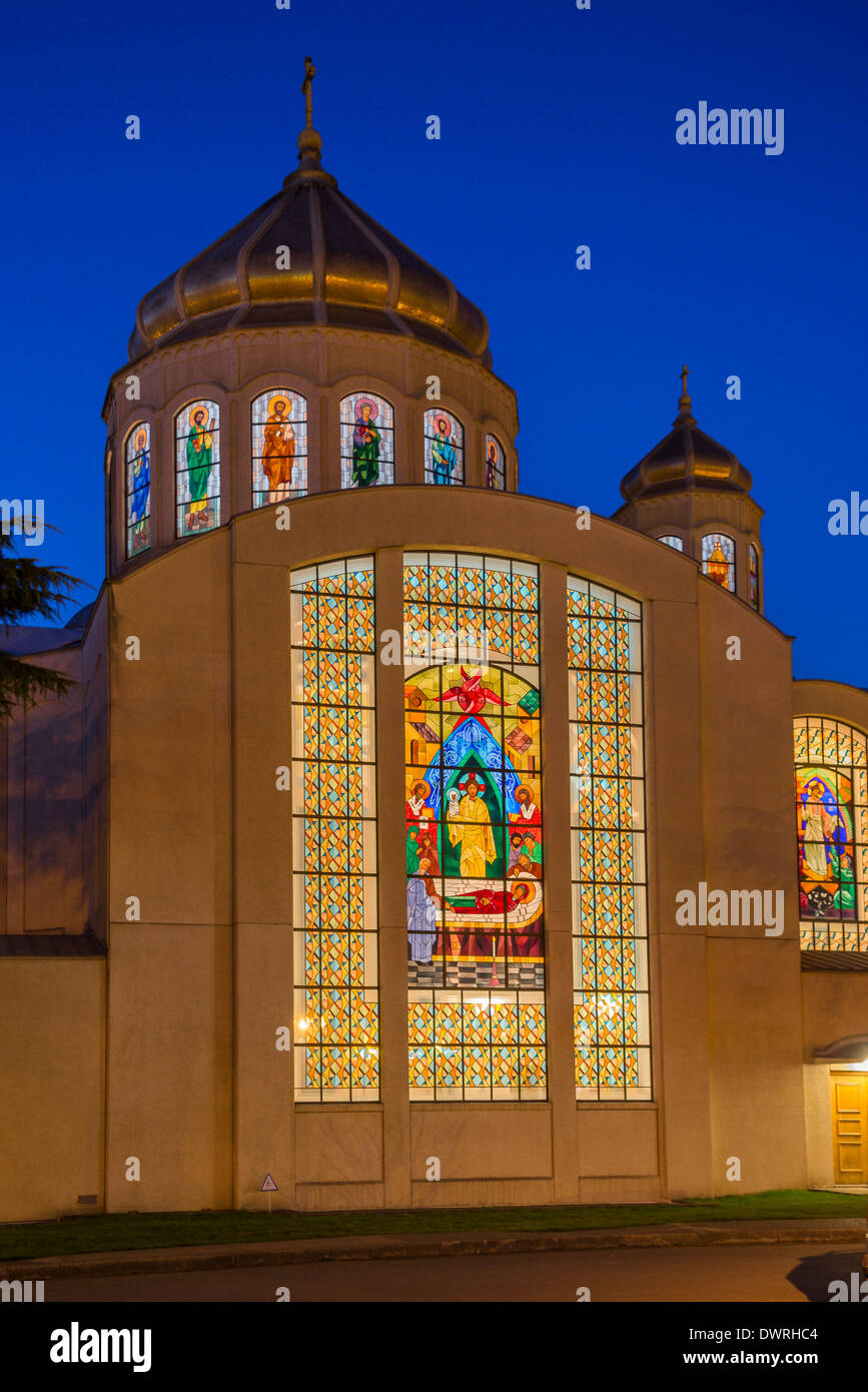 St Marys Ukranian Catholic Church, British Columbia, Canada - Stock Image