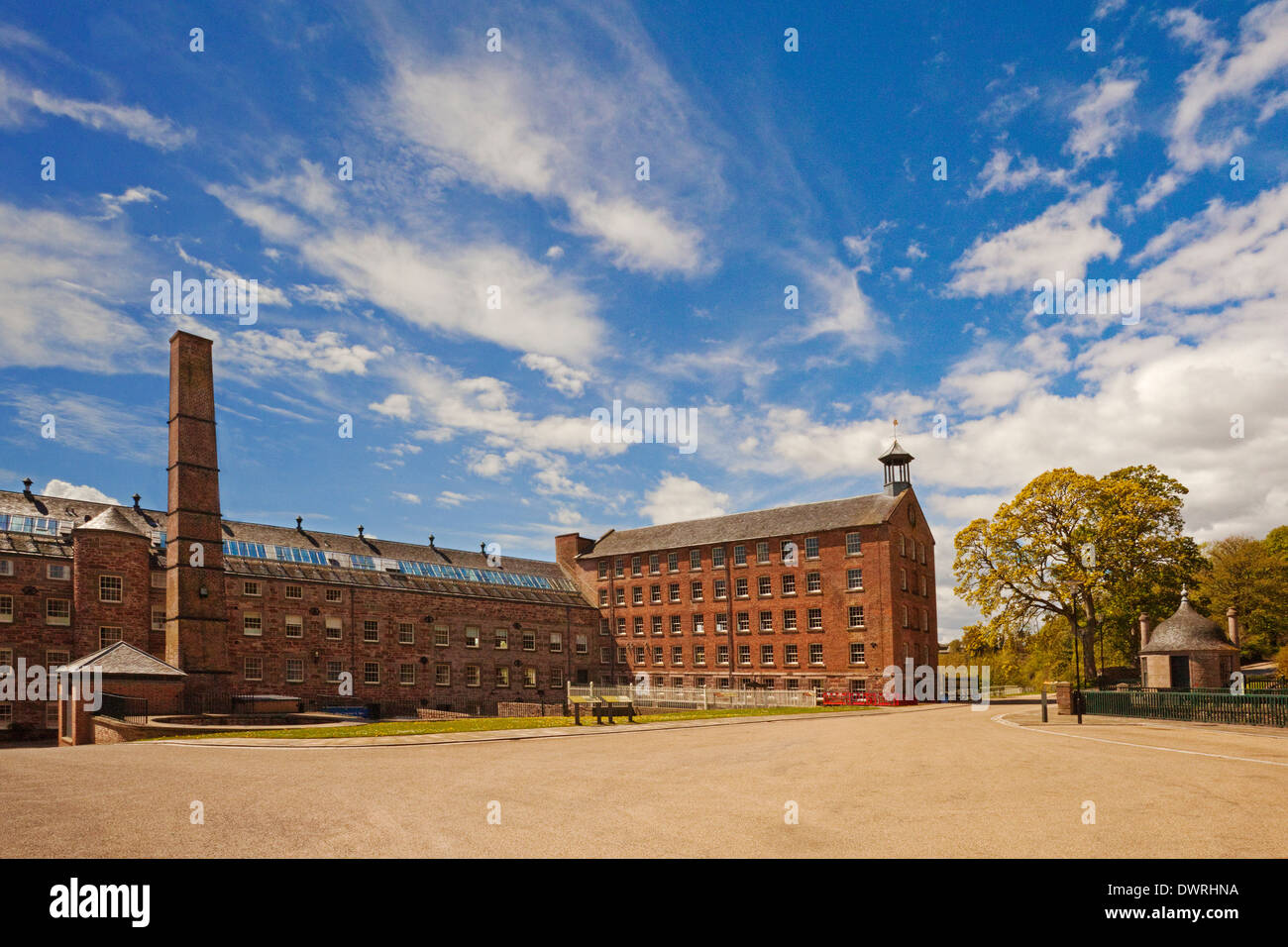 Mid Mill and Bell Mill, Stanley Mills, near Perth - Stock Image