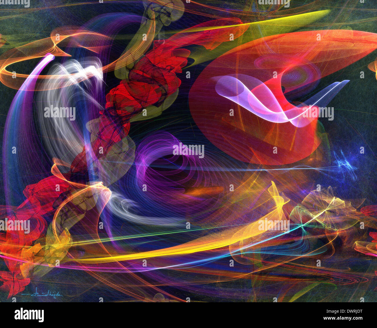 DIGITAL ART: Art of Flight Stock Photo