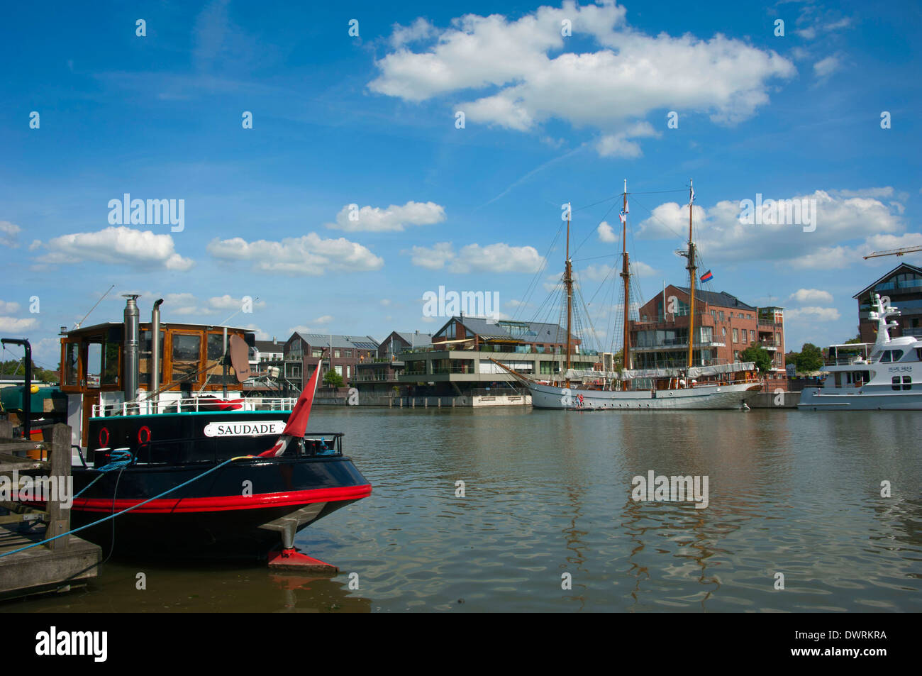 Harbour, Leer - Stock Image