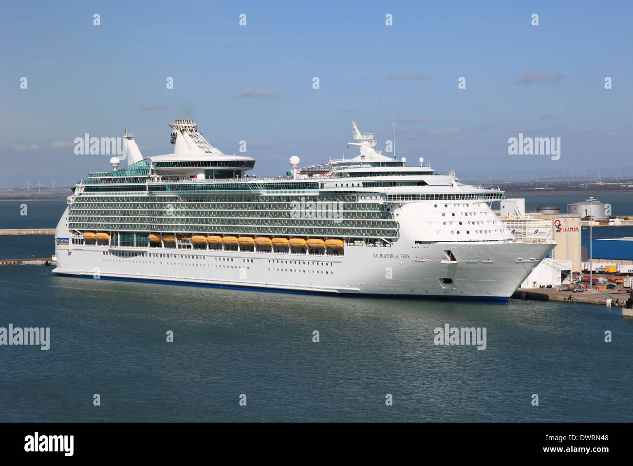Royal Caribbean cruise ship Navigator of the Seas berthed in Cadiz Spain Stock Photo