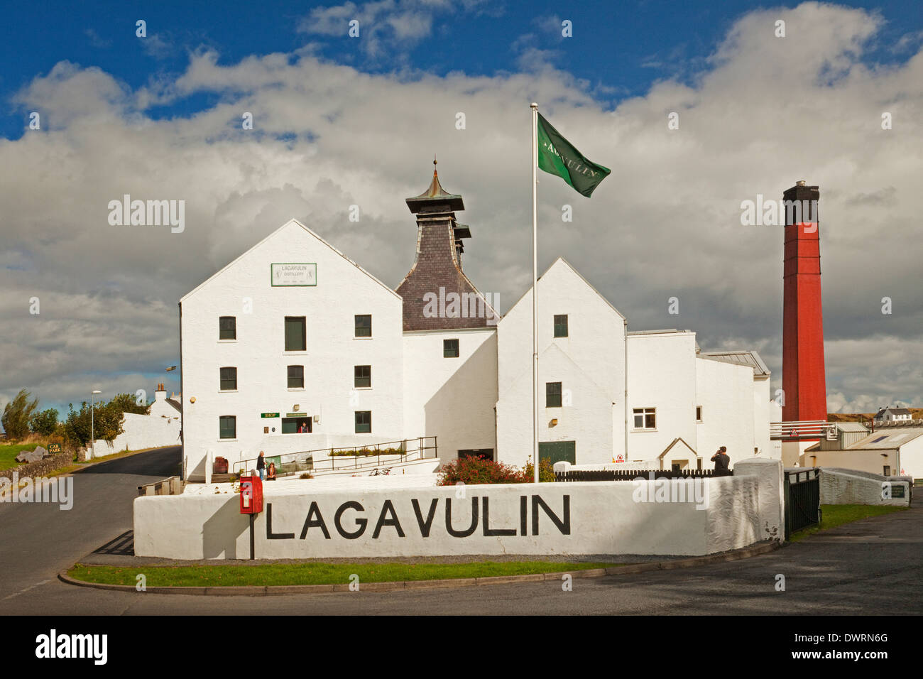 Lagavulin Distillery near Port Ellen on the Isle of Islay - Stock Image