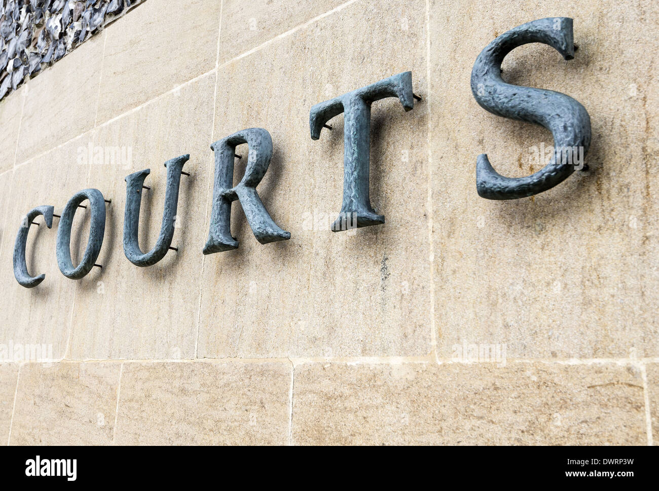 Courts Sign On The Winchester Combined Court Centre In Winchester