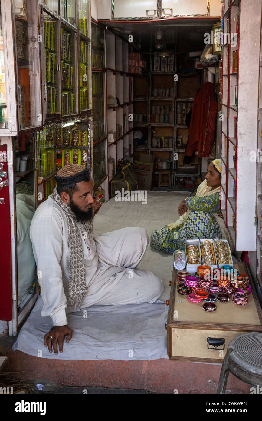 Jaipur, Rajasthan, India. Bracelet Vendor--Singly or by the Box. - Stock Image