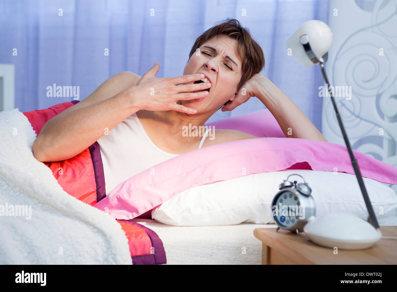 Woman with insomnia - Stock Image
