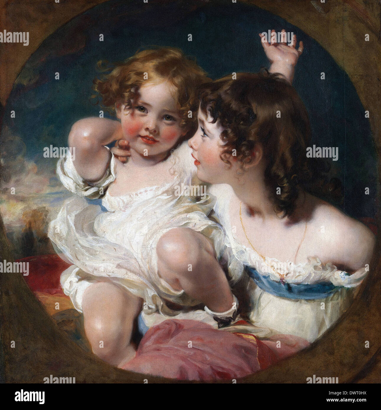 Sir Thomas Lawrence - The Calmady Children Stock Photo