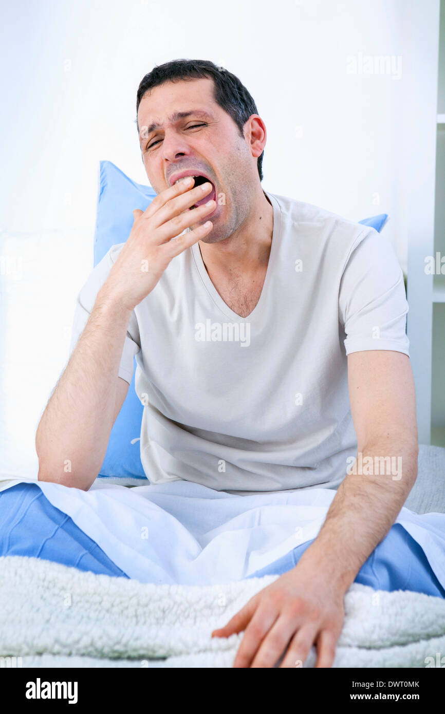Tired man - Stock Image