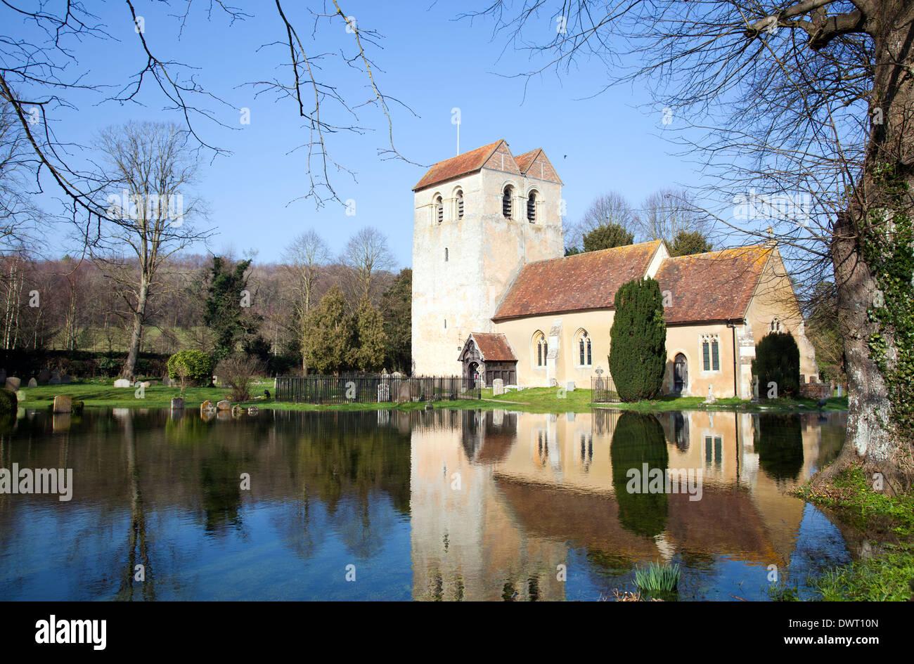 St Bartholomew Church in Fingest - Buckinghamshire - UK - Stock Image