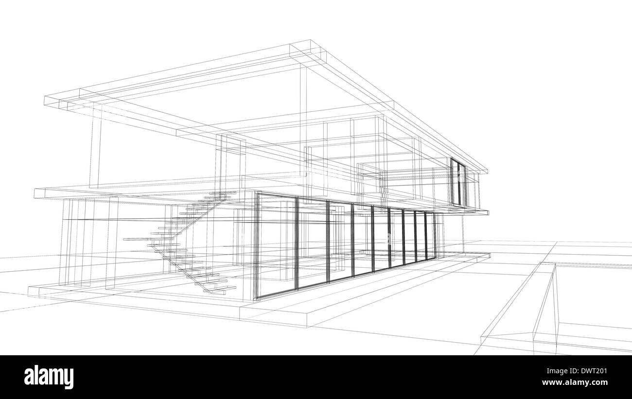Wireframe architecture idealstalist wireframe architecture architectural blueprint malvernweather Gallery