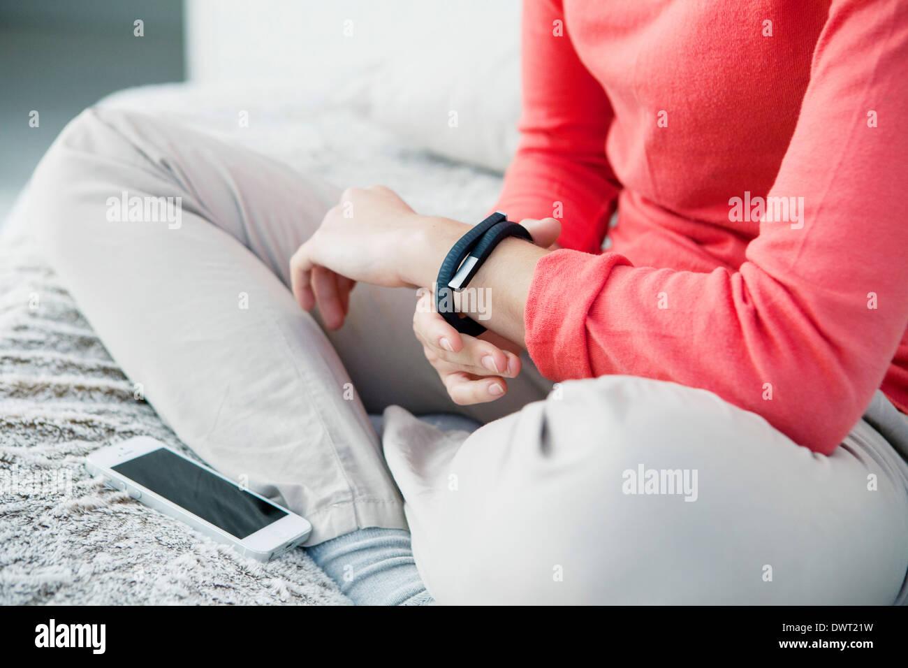 Activity tracker - Stock Image
