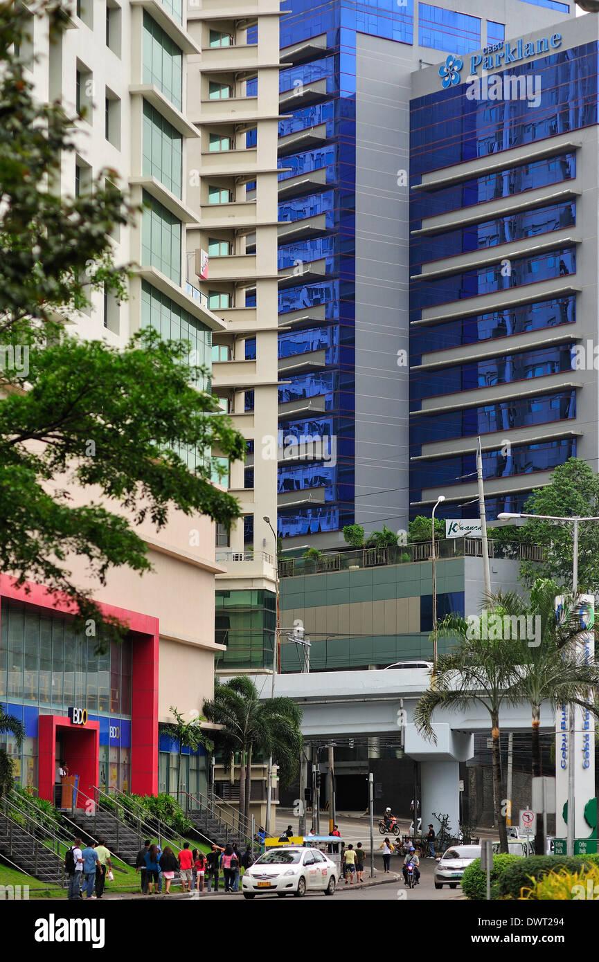 Cebu City Business Park Philippines - Stock Image
