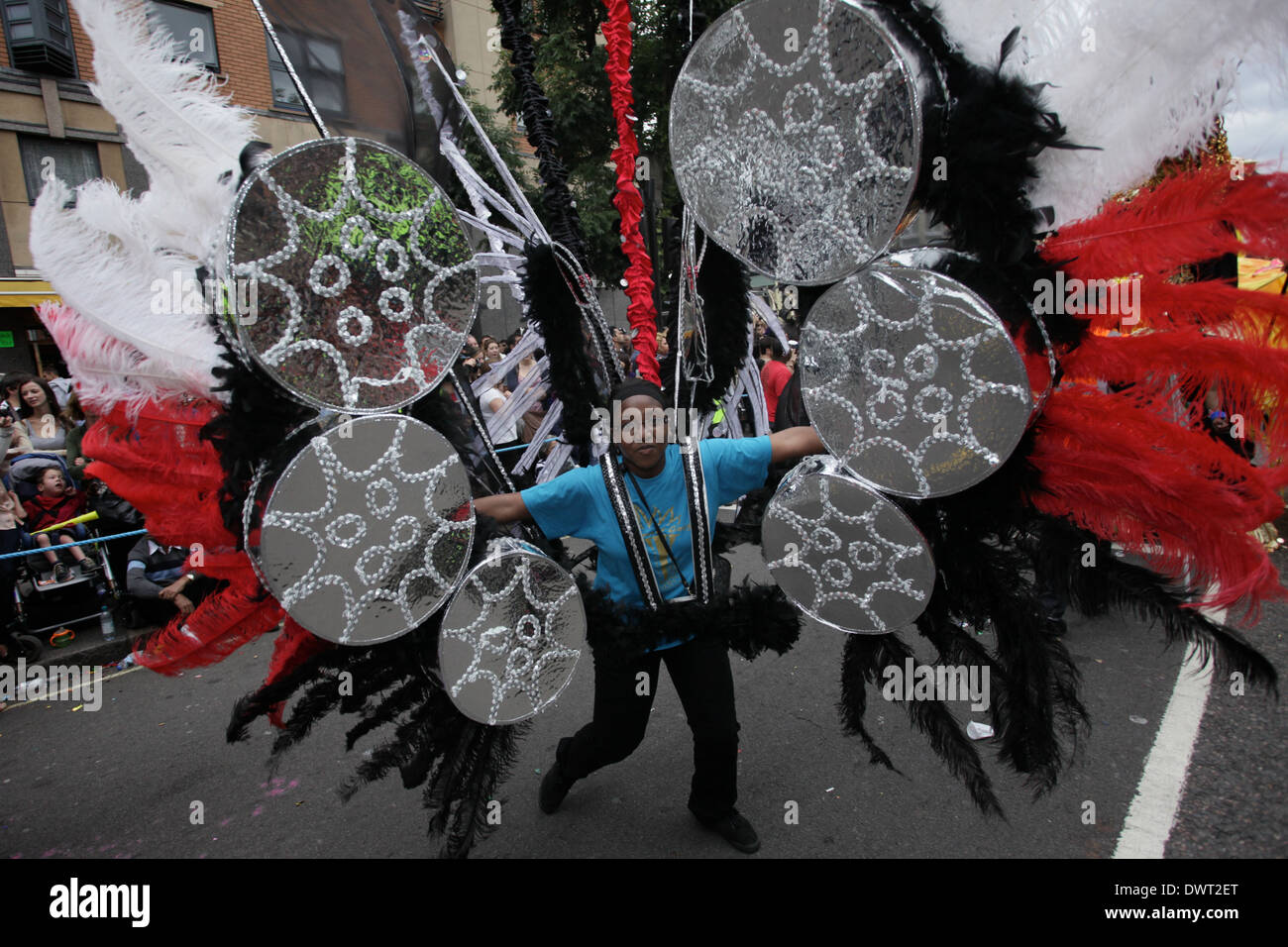 Revelers and dancers at Notting Hill Carnival, London 2011 - Stock Image