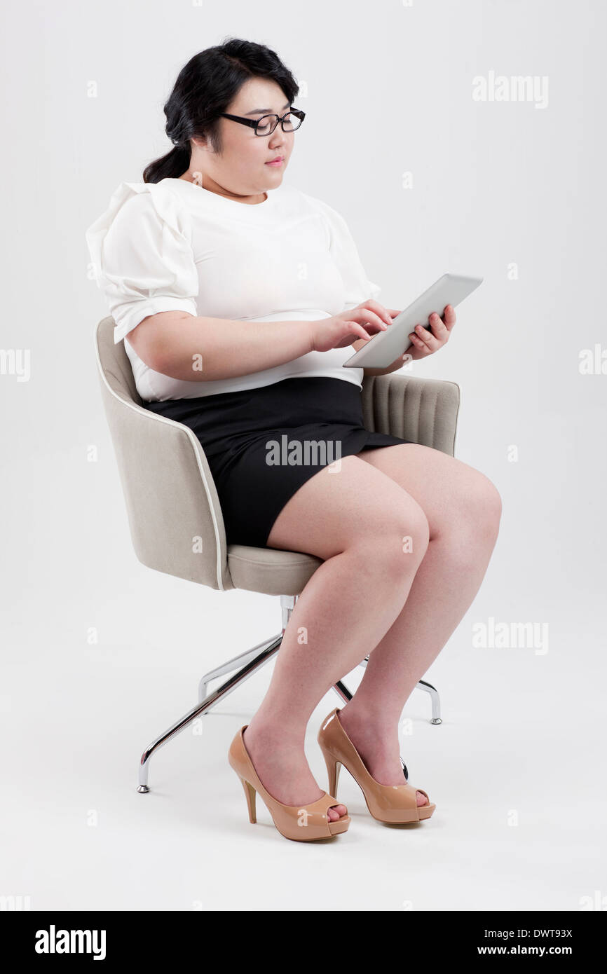 Fat Woman Sitting On