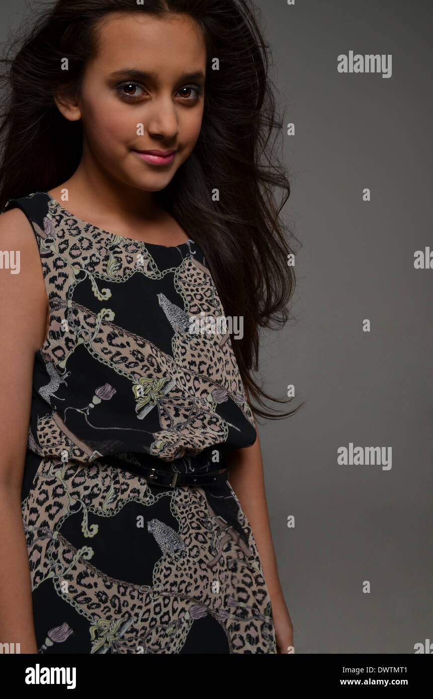 girl wearing dress, fashion - Stock Image